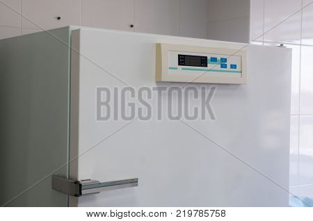 Modern laboratory autoclave sterilizer. It is intended for heating, drying of various materials