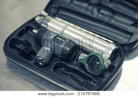 An otoscope or auriscope is a medical device which is used to look into the ears.