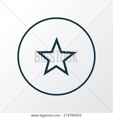 Star icon line symbol. Premium quality isolated favorite element in trendy style.