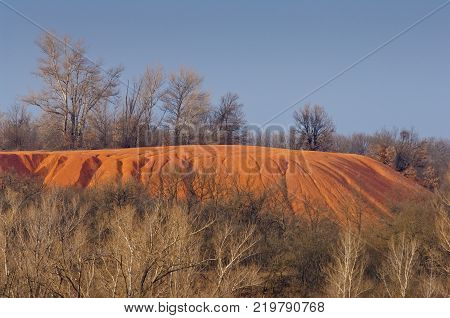 Weathering and surface erosion on an open area eroded land