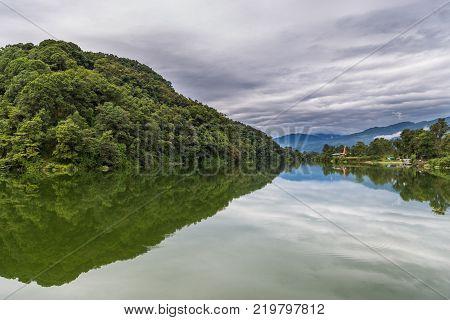 View Of Lake Side Of Pokhara From Phewa Lake, Pokhara