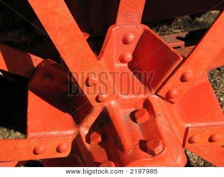 Orange Metal Wheel