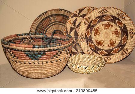 Native American woven baskets make beautiful southwest decor