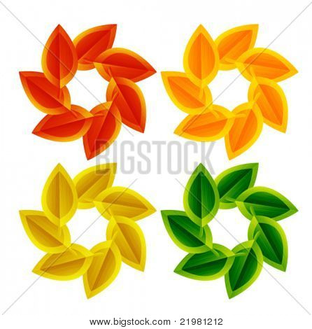 Autumn leaves. Vector seasonal abstract background
