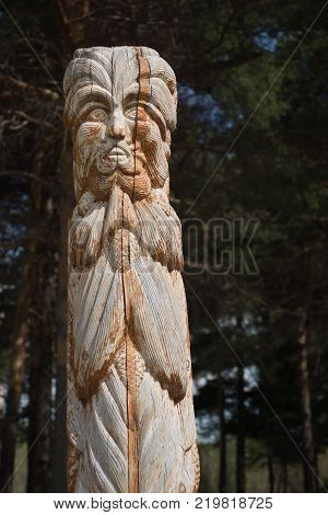 Wooden Statue Of The Idol.