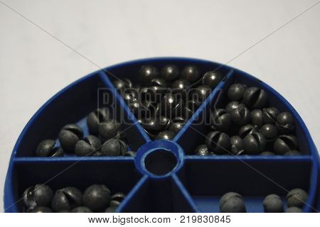 pellets Fishing sinkers in weight one gramme