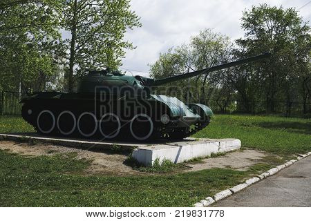 T34 Russian retro tanks from second world war