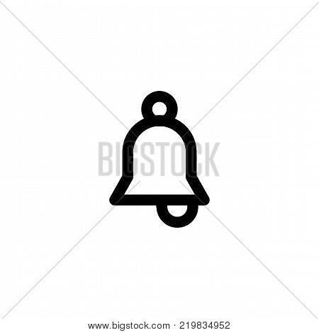 Jingle bell simple flat icon vector illustration.