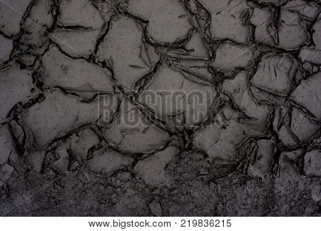 Dried and Cracked groundCracked surfaceDry soil in arid areas.