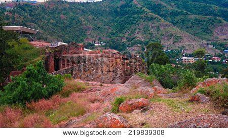 Biete Gabriel Rufael rock-hewn church in Lalibela Ethiopia