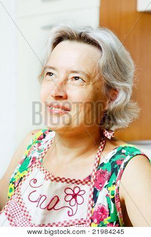 Happy senior woman portrait