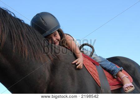 Riding Little Girl