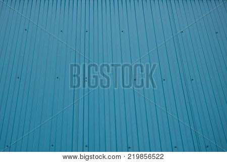 Blue shipping container front grooved wall straight tileable texture weathered with dents rust and scratches high detail