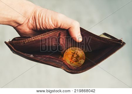 The Picture Of Bitcoin Wallet On A Light Background