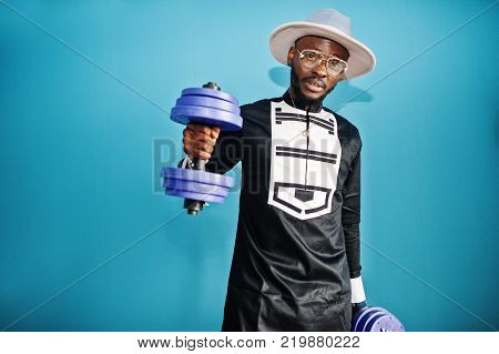 Rich African Man At His Appartment. Portrait Of Successful Black Man Indoor.