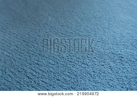 Close shot of simple sky blue fabric