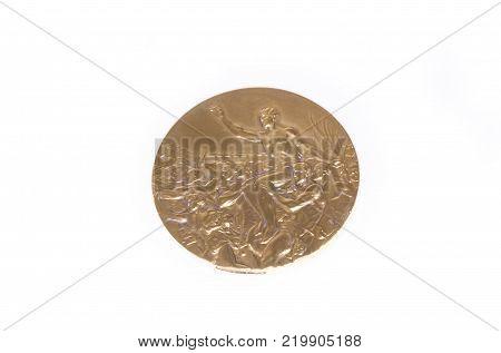 Helsinki 1952 Summer Olympic Games Gold medal reverse. Kouvola Finland 26.03.2017