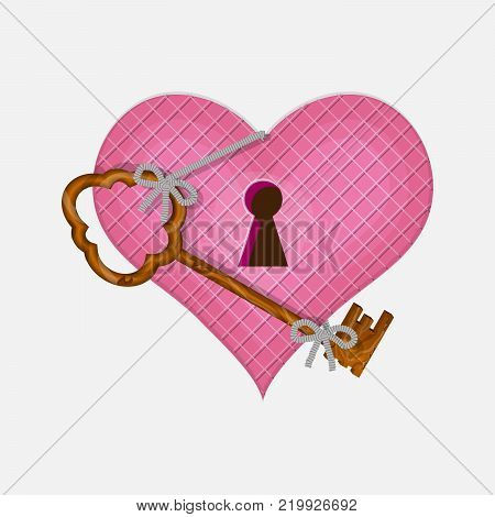 Heart and key to open his Vallentine day