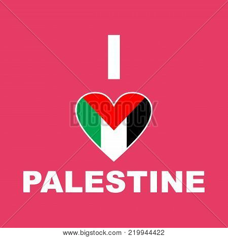background flag palestina, i love palestine, eps, vector