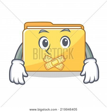 Silent folder character cartoon style vector illustration