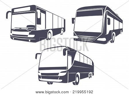 On the image presented City bus the isolated image on a white background