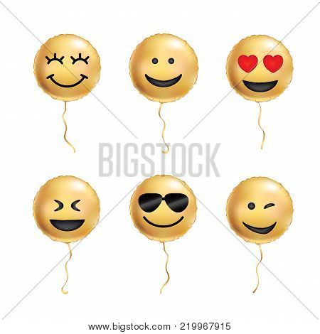 Yellow balloons cool smile. Smiling emoticon black sunglasses, emoji. Yellow balloon smiles background. Fun character people, bright smiley. Comic text, humor message, corporate culture, hierarchy