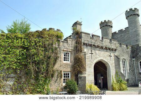 Conwy, Wales, United Kingdom - July 12, 2013 : Bodelwyddan castle in Denbighshire North Wales