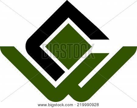 Modern Solution Letter W C Logo Design Template Vector