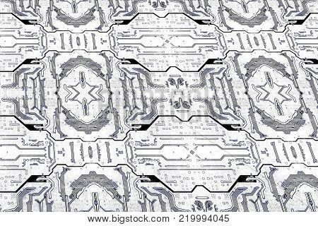Circuit board texture pattern as technology background.Digitally altered image.