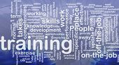 Background concept wordcloud illustration of training international poster