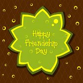 vector card for friendship day poster