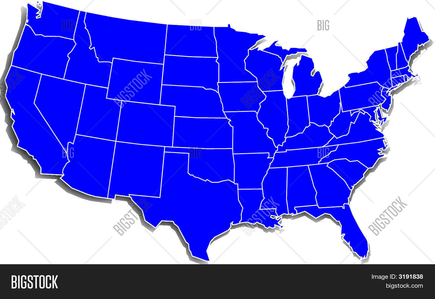 Simple U S Map Image Photo Free Trial Bigstock