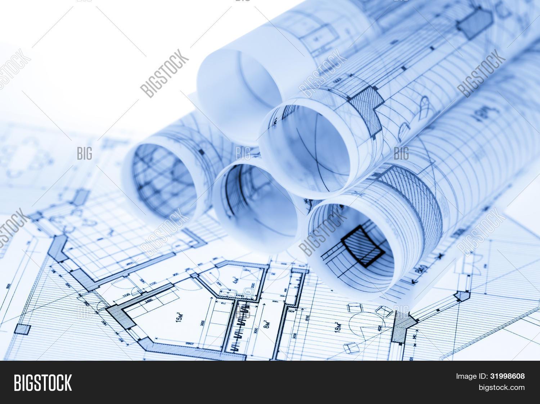 Rolls architecture blueprints image photo bigstock rolls of architecture blueprints house plans malvernweather Images