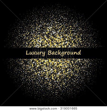 Flickering Gold Particles. Luxury Background. Abstract Vector Illustration. Eps 10