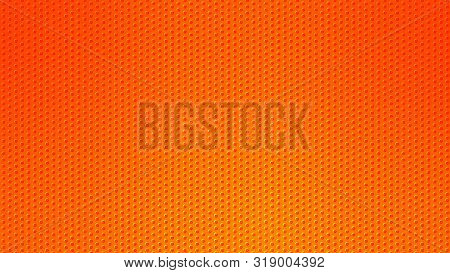 Blurred Background. Circle Dots Pattern. Abstract Orange Gradient Design. Round Spot Texture Backgro