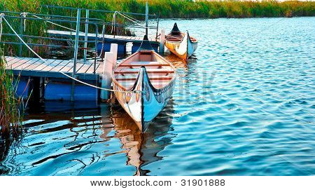 wooden indian canoe