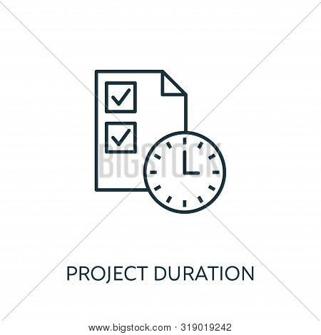 Project Duration Outline Icon. Thin Line Concept Element From Risk Management Icons Collection. Crea