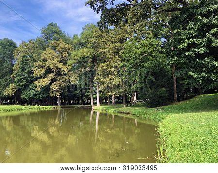 Artificial Lake In The Park Of Pejacevic Castle Or Umjetno Jezero U Perivoju Dvorca Pejacevic - Nasi