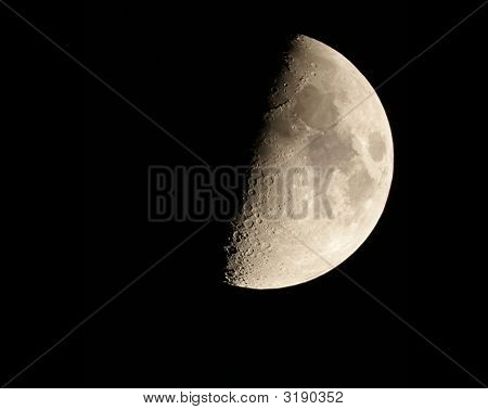 poster of This is an image of a waxing moon as seen through a 8 inch Schmidt and Casgrain telescope.