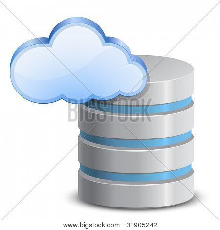auf Linie-backup-Service. Wolke-Netzwerk-Backup. Vektor-illustration