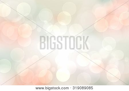Abstract Blurred Vivid Spring Summer Light Delicate Pastel Pink Bokeh Background Texture With Bright