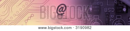 Pink Top Banner