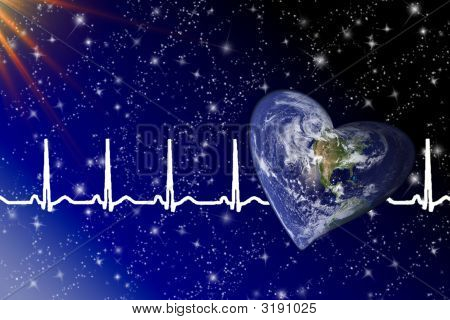 Planet Earth And  Her Heartbeats