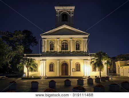 Our Lady Of Carmo  Landmark  Portuguese Colonial Architecture Church In Taipa Macau China