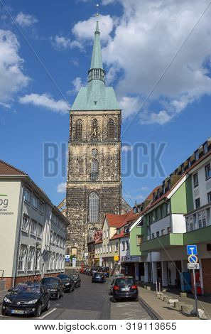Hildesheim, Germany - 1 July 2019: St Andreas Church At Hildesheim On Germany