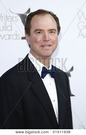 LOS ANGELES, CA - FEB 19: Adam B Schiff at the 2012 Writers Guild Awards at The Hollywood Palladium on February 19, 2012 in Los Angeles, California