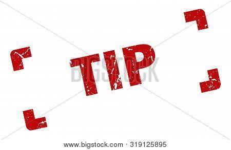 Tip Stamp. Tip Square Grunge Sign. Tip
