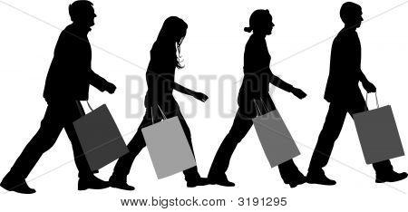 Shopping Group Vector
