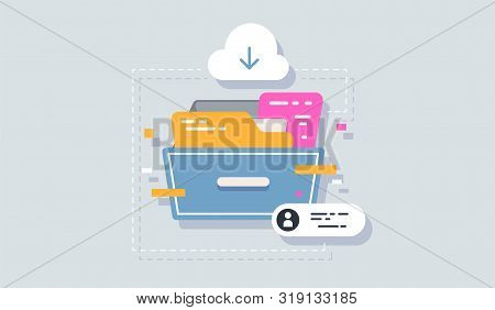 Archive Icon Flat Element. Vector Illustration Of Archive Icon Flat Isolated On Clean Background For