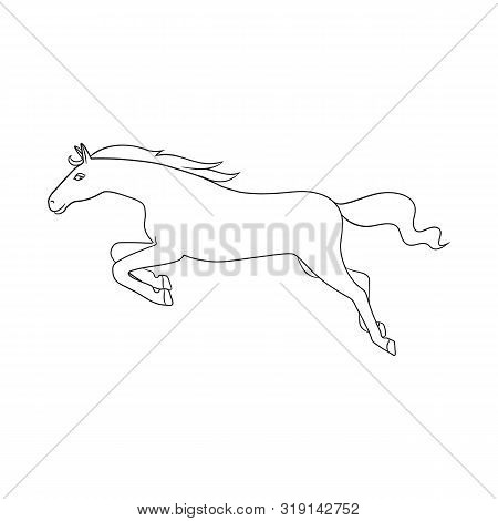 Vector Illustration Of Horse And Gallop Symbol. Set Of Horse And Hoofed Stock Vector Illustration.